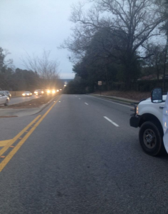 Traffic for a Downed Tree on Hillcrest Road